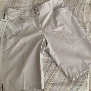 Women's Adidas Off-White Golf Shorts NWT - 8